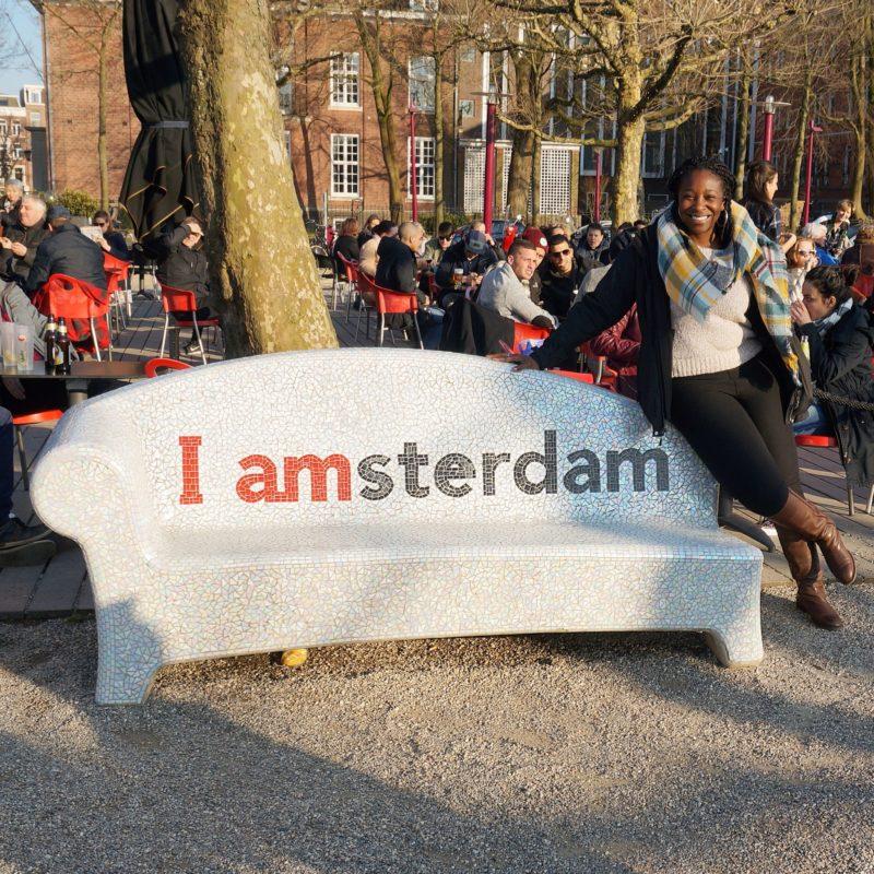 IAMAmsterdam Bench