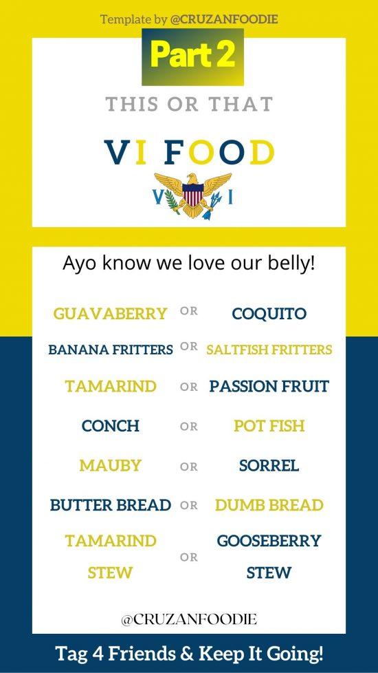 St. Croix vacation Virgin Islands food